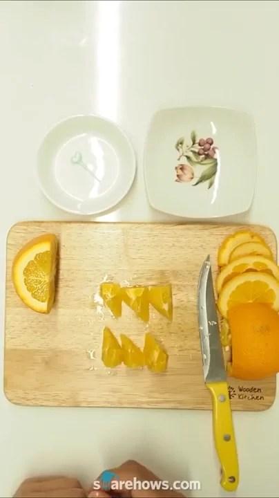 오렌지로 예쁜 디저트 만들기