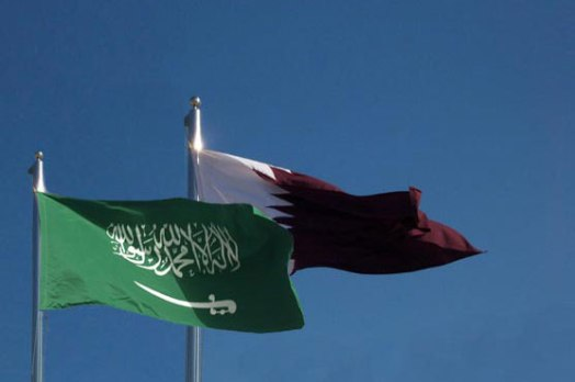 qatar saudi arabia flags