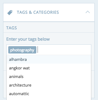 tag dropdown