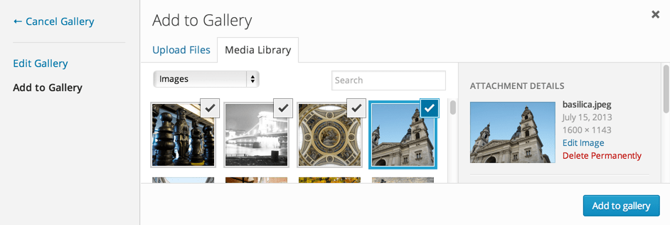Add Images to the Gallery