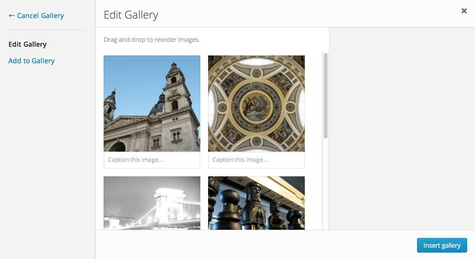Edit and Insert Gallery