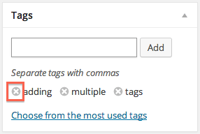 Removing tags