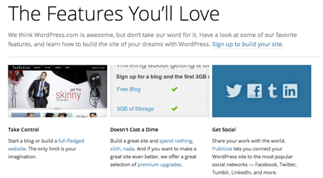 The Features You'll Love — WordPress.com