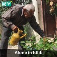 An 85-year-old Syrian man lives alone in rural Idlib