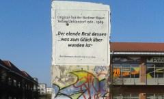 Berlin Wall in Schwedt/Oder