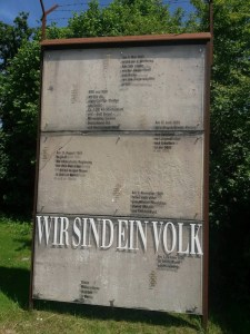 Berlin Wall in Postbauer-Heng