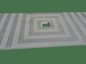 White Ibiza marble shower tray model Earth