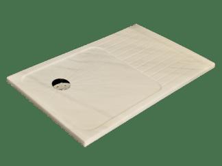 White Ibiza marble shower tray model Jupiter