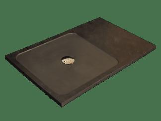 Black slate shower tray model Moon