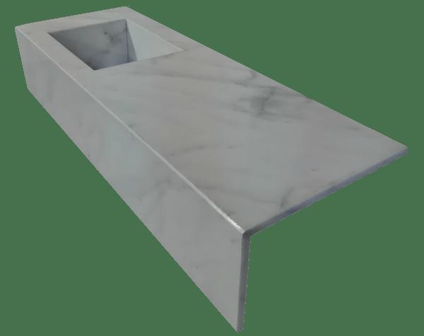 White Ibiza marble bathroom countertop model EN150