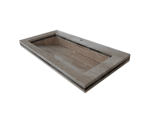 Roman Travertine washbasin model AM200