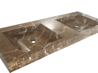 Light Emperador marble washbasin model AM300