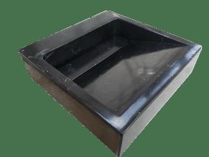 Black Marquina marble washbasin model AM25