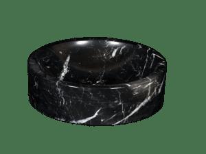 Black Marquina marble washbasin model AM27