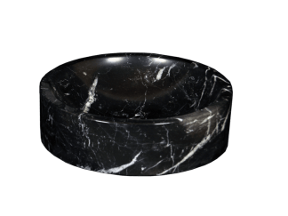 Black Marquina marble washbasin model AM27