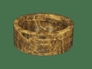 Emperador Brown marble washbasin model AM07
