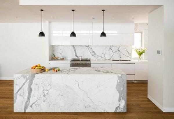 kitchen countertop marble white calacatta venato