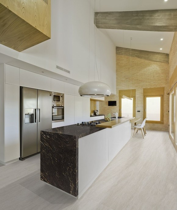 Iron black granite kitchen countertop
