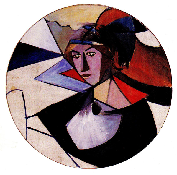 Olexandr Bogomazov - Portrait Of a Woman, 1915