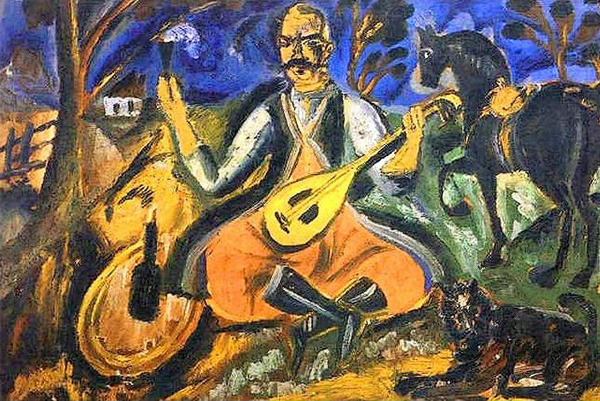 David Burliuk - Cossack Mamay, 1912