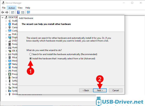 Download Hyundai L500 USB Driver - add hardware manual next