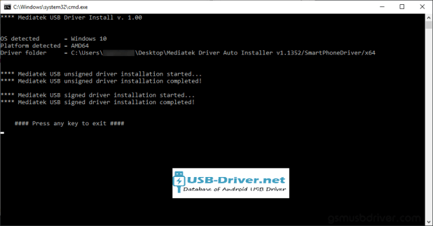 Download Dexp B340 USB Driver - mediatek driver auto installer setup finish