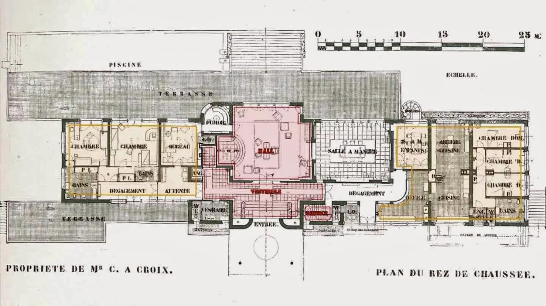 Villa Cavrois Planta Wikiarquitectura
