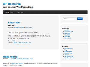 The Bootstrap Screenshot