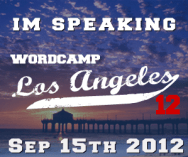 WordCamp LA Speaker Badge