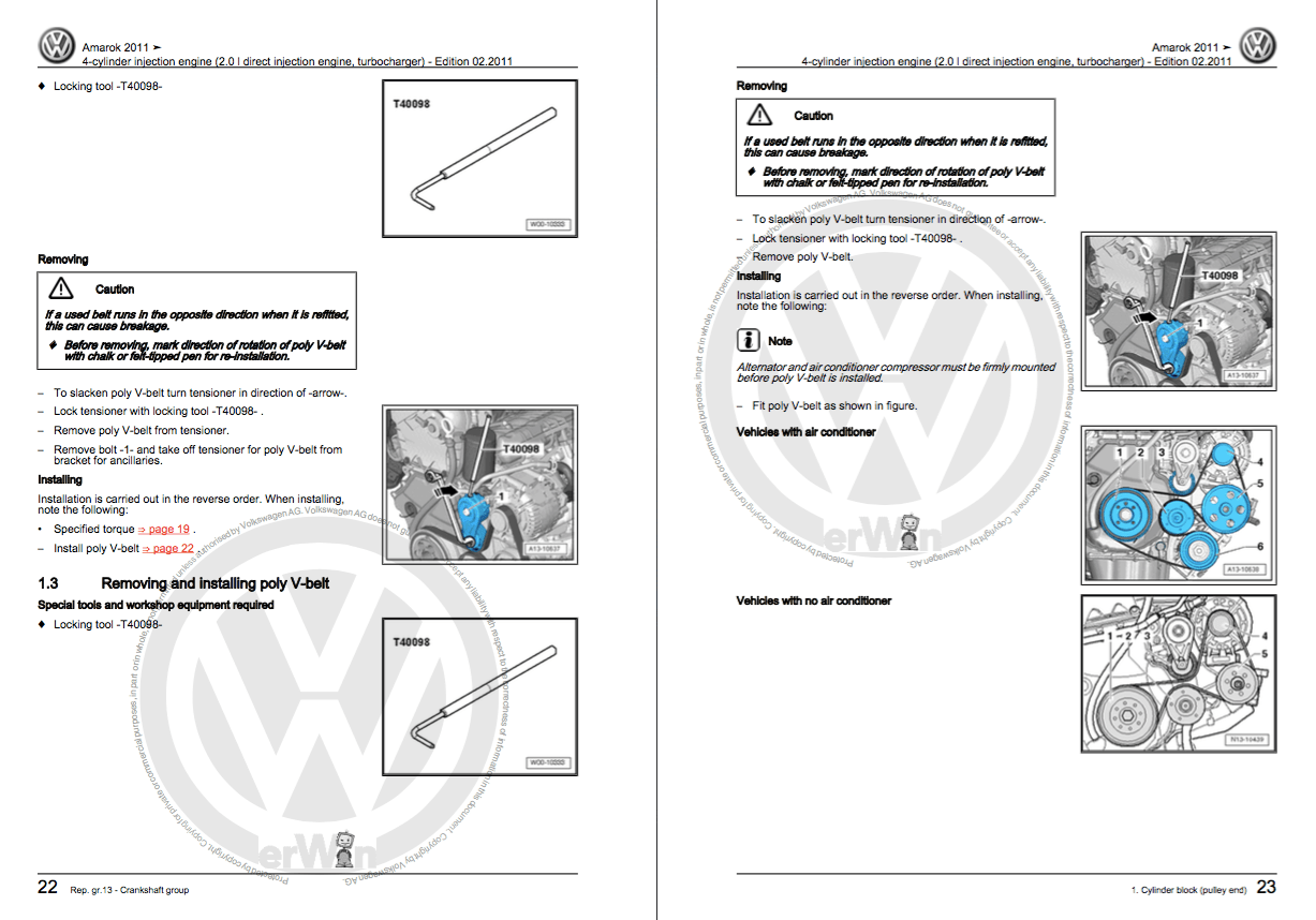 Volkswagen Amarok Service And Repair Manual