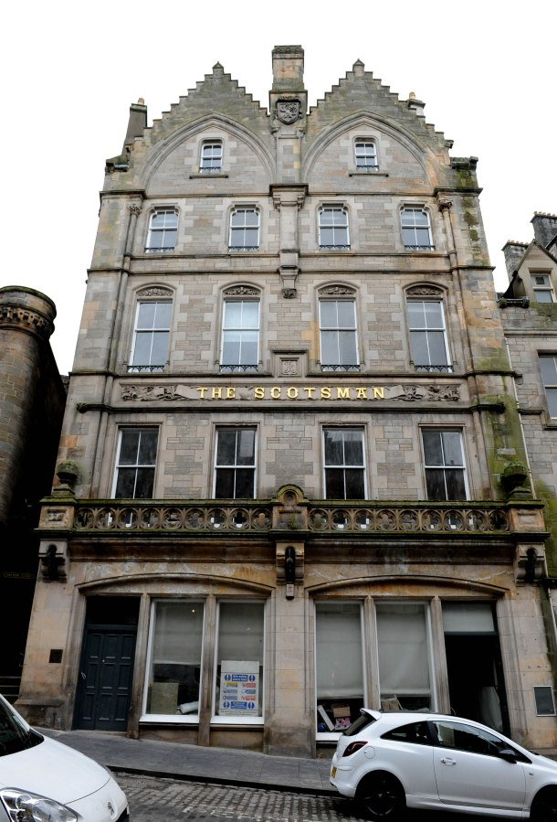 The original Scotsman building on Cockburn Street, Edinburgh
