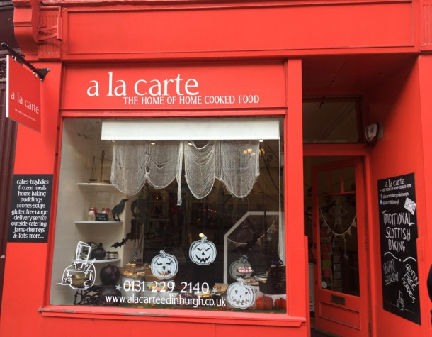 A La Carte on Bruntsfield Place. Credits to Daisy Smith