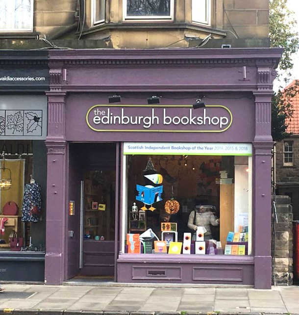 The Edinburgh Bookshop on Bruntsfield Place. Credits to Daisy Smith