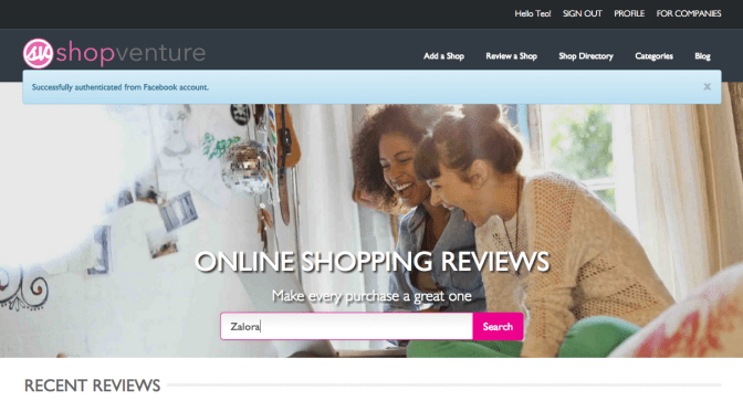 Review Shopping Websites with ShopVenture