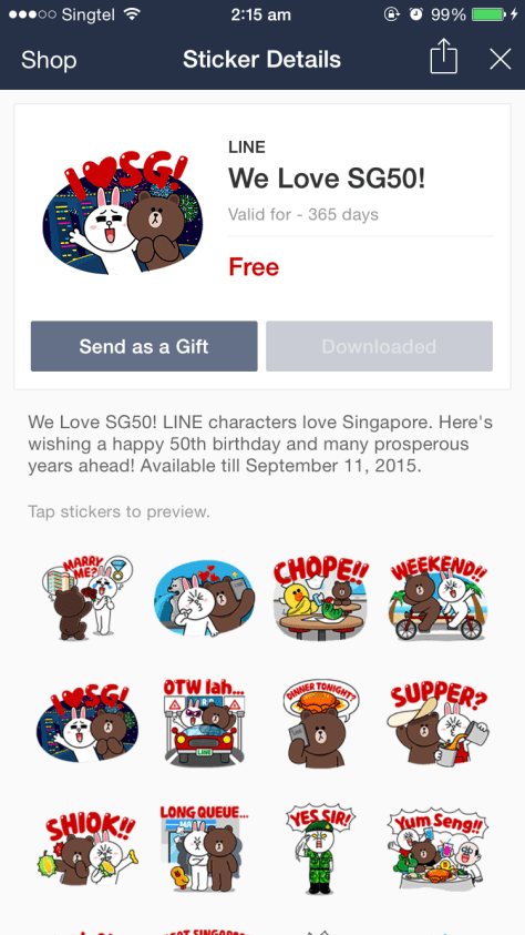 LINE SG 50 Stickers 009
