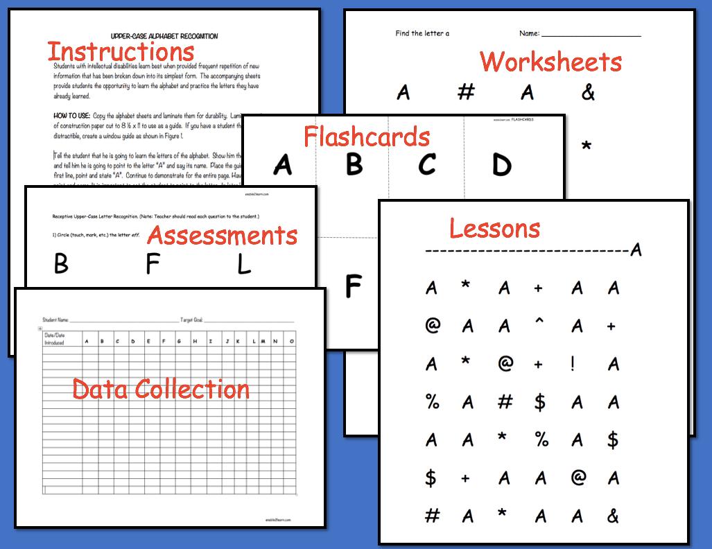 Upper Case Alphabet Identification Unit
