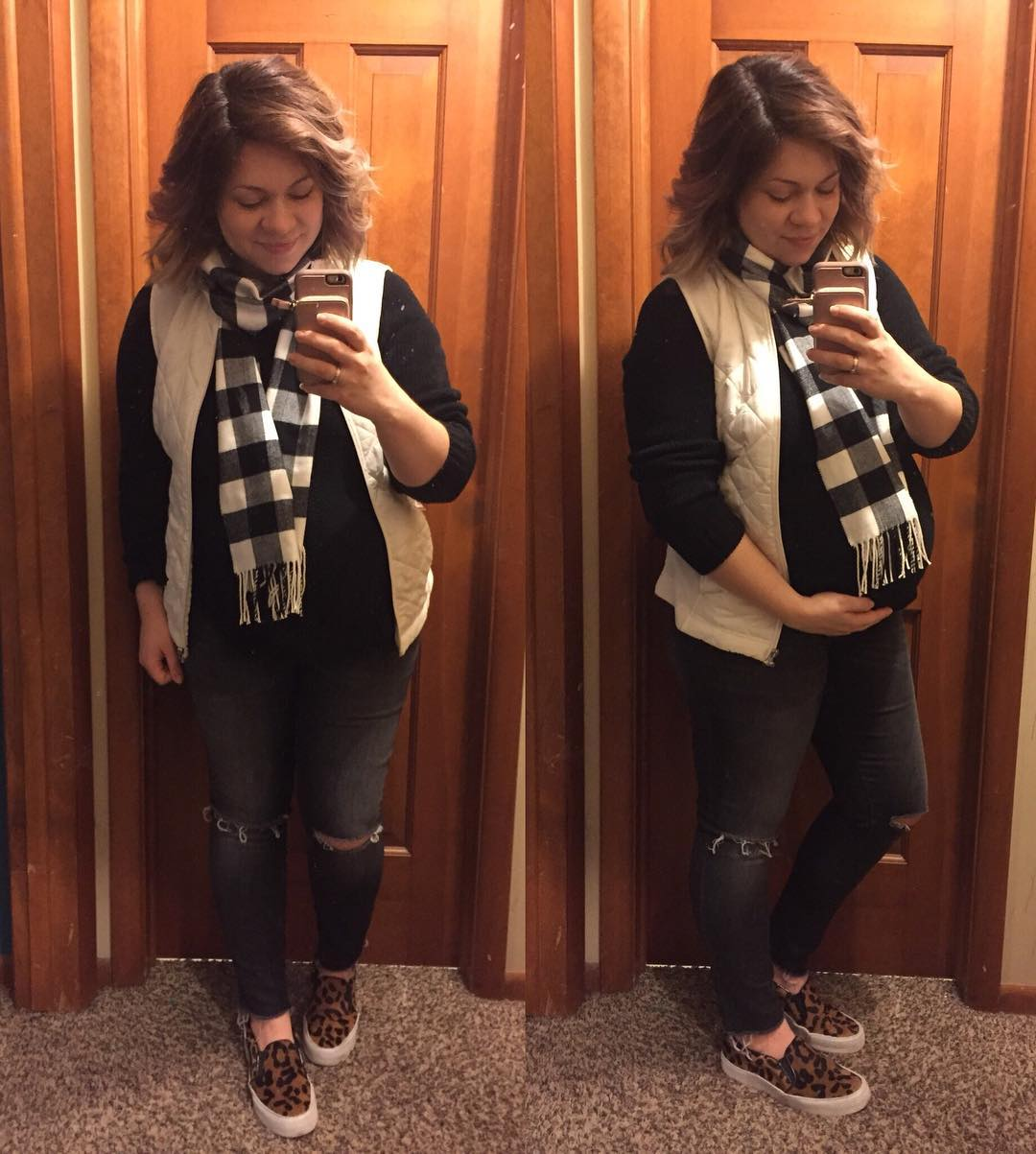 OOTD for family movie night at 35.5 weeks!! Almost there with baby #4