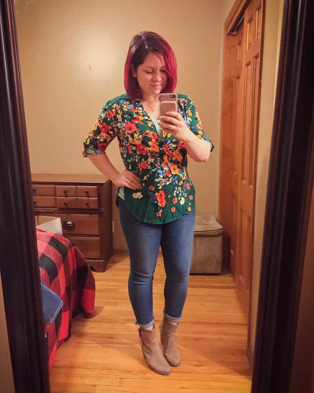 Here is another like-not-love piece from my recent Stitch Fix! Love the bold colors and that it is breastfeeding friendly, but I don't *love* it for the price — I will try to find it secondhand later on for less! This is going to a new home via the BST boards