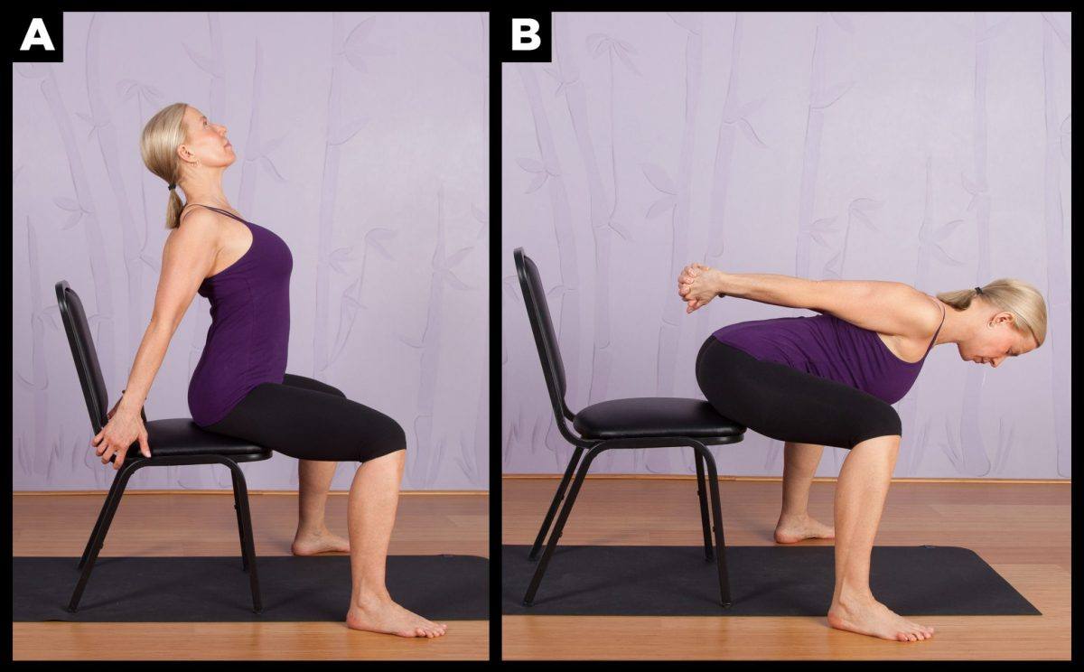 Chair Yoga: Wide-Legged Camel to Forward Fold