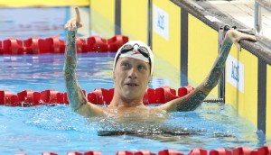 Toronto, Ontario, August 12, 2015. Adam Purdy competes in the swimming during the 2015 Parapan Am Games . Photo Scott Grant/Canadian Paralympic Committee