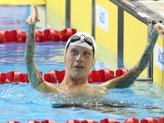 Adam Purdy swimming