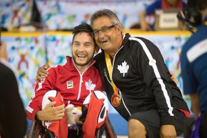MISSISSAUGA, ON, AUGUST 14, 2015. Gold Medal Game in Wheelchair Rugby - CAN 57 vs USA 54. Photo: Dan Galbraith/Canadian Paralympic Committee
