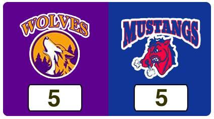 TPWHL Wolves vs Mustangs