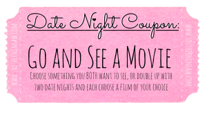 Date Night Coupon - Go and See a Movie