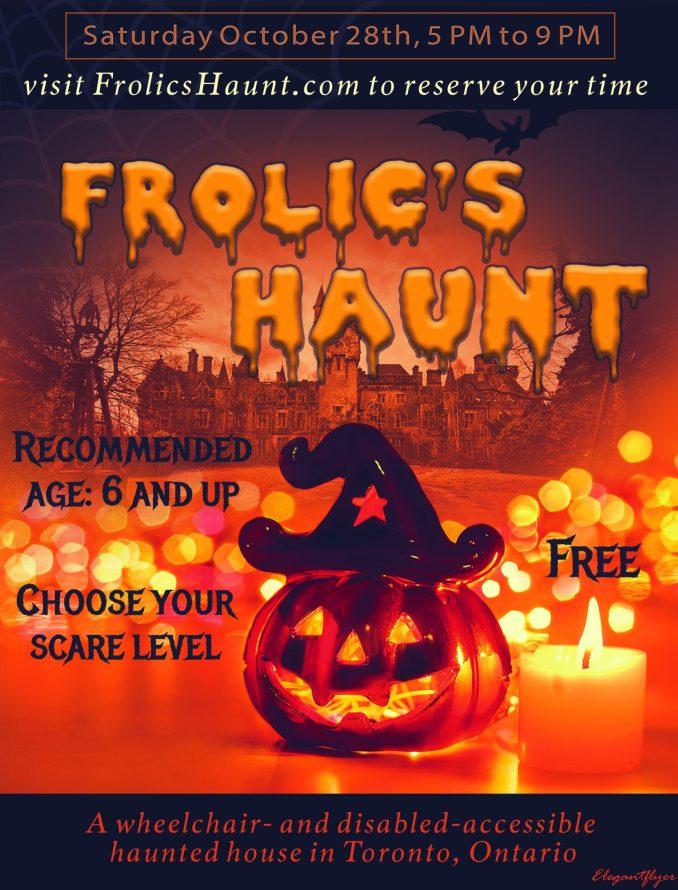 Frolic's Haunt Accessible Halloween Haunt 2017 flyer