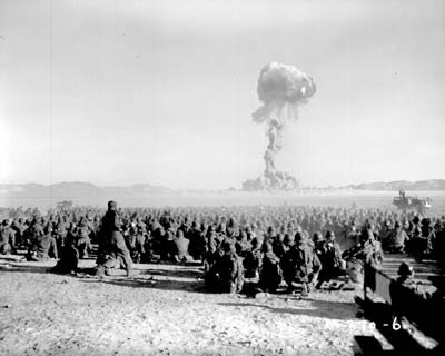 Image result for 1951 – Operation Buster–Jangle: 6,500 American soldiers are exposed to 'Desert Rock' atomic explosions for training purposes in Nevada. Participation is not voluntary