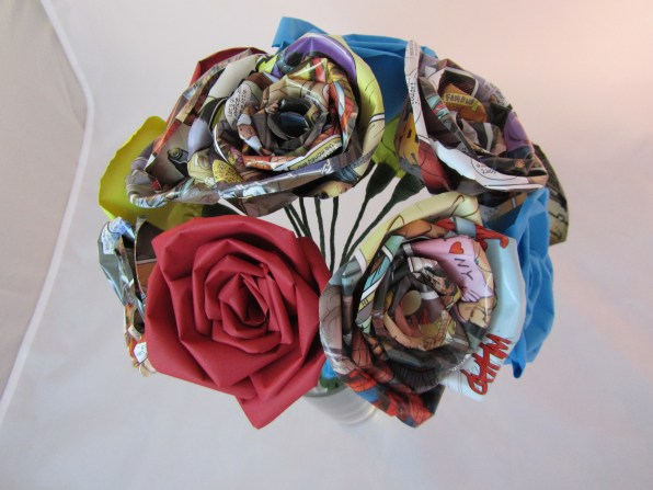 Comic Book Rose Bouquet by Ena Green Designs