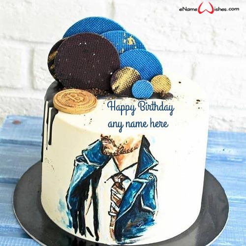 Happy Birthday Cake For Boyfriend With Name Enamewishes