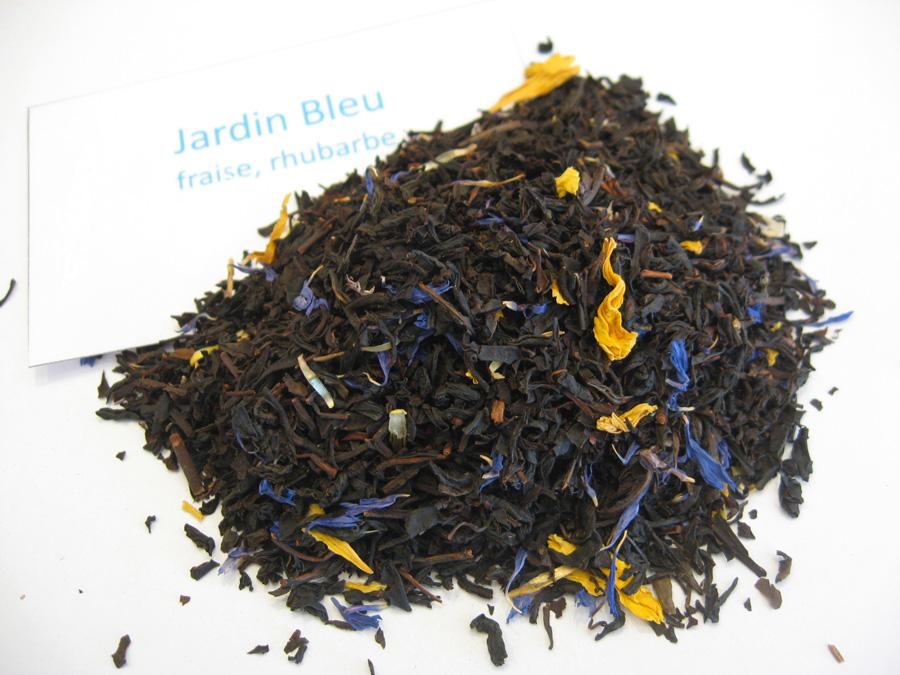 Jardin bleu - Thé noir aromatisé fraise/rhubarbe - en aparthé