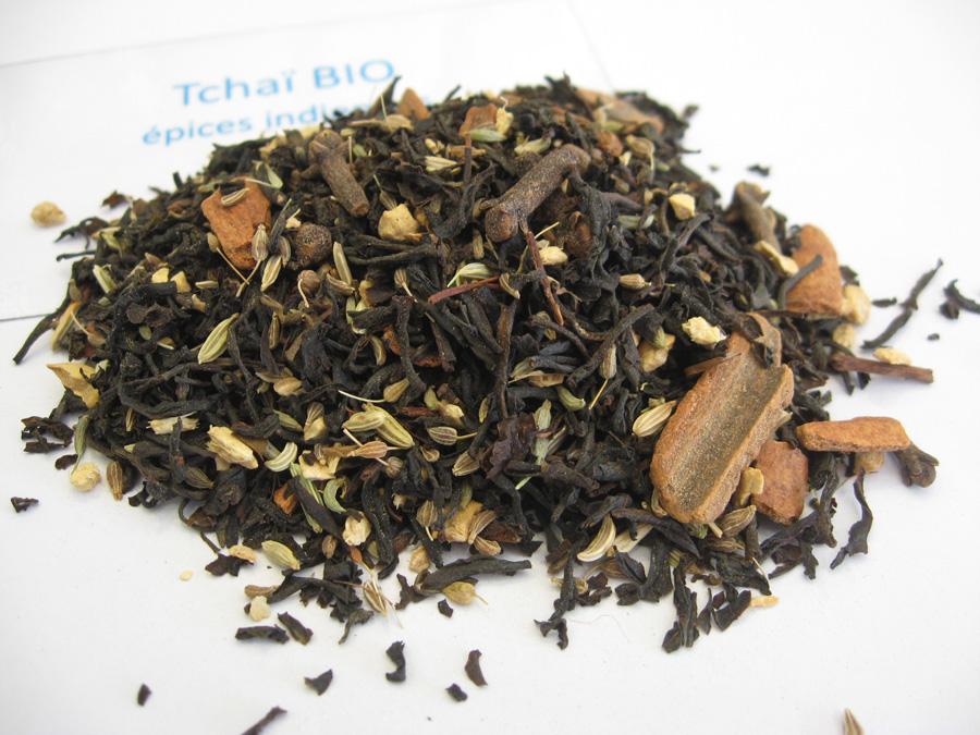 Tchaï BIO - Thé noir aromatisé aux épices - en aparthé